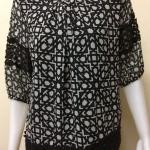 เสื้อคอกลมผ้าชีฟอง สีดำ BY Tucky