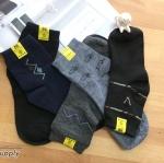 เซตถุงเท้า ลายพื้นฐาน สีพื้น ( 5 คู่ )