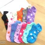 เซตถุงเท้า ลายดาวใหญ่ สีผสม ( 6 คู่ ) คละสีได้