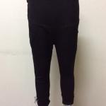 กางเกงคนท้องขา 5 ส่วน สีดำ ตกแต่งลายโบว์