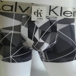 Calvin Klein Boxer ลายเรขาคณิต เทา-ดำ