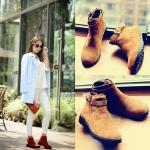 Preorder รองเท้าแฟชั่น สไตล์เกาหลี 34-42 รหัส 9DA-3696