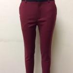 กางเกงขา 5 ส่วน ผ้าดับเบิ้ล สีแดงเลือดหมู