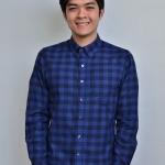 เสื้อลายสก๊อต สีน้ำเงิน blue Flannel shirt