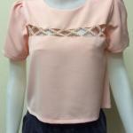 เสื้อคอกลม สีโอรส CHOEGO by PK