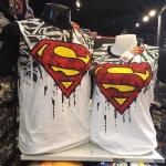 ซุปเปอร์แมน สีขาว (Superman logo arm black)