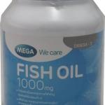 MEGA We care FISH OIL 1000 mg เมก้า น้ำมันปลา 1000 มก. 30 แคปซูล