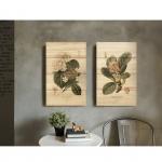 ภาพพิมพ์ดอกไม้คู่ Wall Art Print