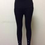 กางเกงคนท้องขายาว สีดำ