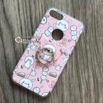 เคส iPhone 7 Plus ลายกระต่ายหมี มีแหวน สีชมพู BKK