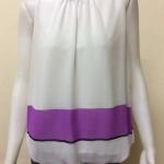 เสื้อแขนกุดคอเต่าผ้าชีฟอง สีขาว By Tukcy