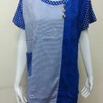 เสื้อคอกลม สีน้ำเงิน BY T&L
