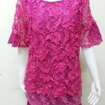 เสื้อผ้าลูกไม้ สีชมพูบานเย็น By ROSE