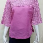 เสื้อผ้าลินินลูกไม้ สีชมพู
