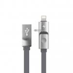 สายชาร์จ Awei CL-989 2in1 Lighting (ios) & Micro USB (android) สีเทา