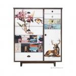 ตู้เก็บของสไตล์วินเทจ รูปกวาง Ornate Spring Cabinet