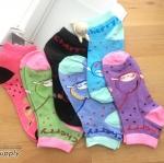 เซตถุงเท้า ลายเชอร์รี่ สีผสม ( 6 คู่ )