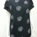 เสื้อคอกลมผ้าจอร์เจีย สีดำ BY Tucky