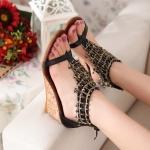 พร้อมส่ง รองเท้าแฟชั่น สีดำ ไซส์ 37 รหัส PP-9DA-6414