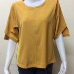 เสื้อคอกลมผ้าฮานาเกะ By PISTA สีเหลือง Size 42