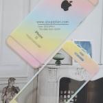 ฟิล์มกระจก iPhone5/5s/SE ลายกากเพชรไล่สี