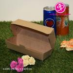 กล่องฮอทดอก ขนาด 6.5x16.5x6.5ซม สีคราฟธรรมชาติ (บรรจุแพ็คละ 50 กล่อง)