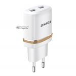 หัวชาร์จ Awei C-930 2.1A USB 2 ช่อง สีทอง