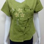 เสื้อผ้าฝ้ายพื้นเมืองภาคเหนือ สีเขียว