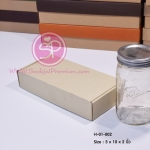 H-01-002 : กล่องลูกฟูกลอนเล็ก ขนาด 5.0 x 10.0 x 2.0 นิ้ว
