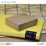 สีน้ำตาลธรรมชาติ (ไม้สน) ขนาด 4.5x5.5x1.5 นิ้ว (บรรจุ 50 กล่องต่อแพ็ค)