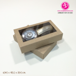 กล่องสบู่แบบซองสวม ขนาด 6 x 10 x 2 ซม สีคราฟธรรมชาติ (บรรจุแพ็คละ 50 กล่อง)