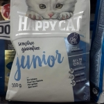 Happy cat sensitive grainfree junior 300g. 159รวมส่ง