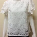 เสื้อผ้าลูกไม้วิสคอสแฟชั่น แขนสั้น สีขาว By Hiso Dress