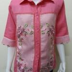 เสื้อผ้าลินินลูกไม้ สีชมพู By B.boutique