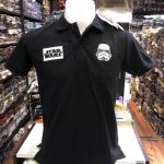 สตาร์วอร์ เสื้อโปโล-คอปก สีดำ (Star Wars Black logo Storm Trooper)