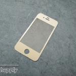 ฟิล์มกระจก iPhone4/4s ไททาเทียม สีทอง