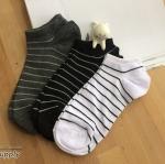 เซตถุงเท้า ลายทาง สีพื้น ( 6 คู่ )