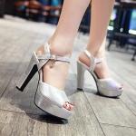 พร้อมส่ง รองเท้าแฟชั่น สี Silver ไซส์ 33 รหัส PP-CE-9269