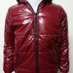 เสื้อแจ็คเก็ตผ้าร่มมีฮู้ด สีแดง
