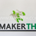 LED 3mm สีเขียว 5 ตัว
