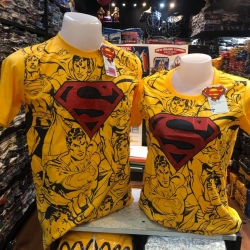 ซุปเปอร์แมน สีเหลือง (Superman Black Comic Yellow)
