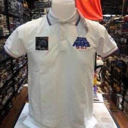 สตาร์วอร์ เสื้อโปโล-คอปก สีขาว( Darth Vader white CODE:1330)