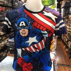 กัปตันอเมริกา ผ้า premium SCUBA (MVC-Captain America Punch CODE:1262)
