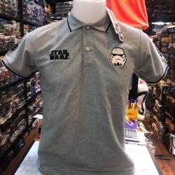 สตาร์วอร์ เสื้อโปโล-คอปก สีเทา( Star Wars Strom Trooper gray CODE:1328)