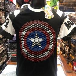กัปตันอเมริกา ดำ (Captain black arm white star CODE:1264)