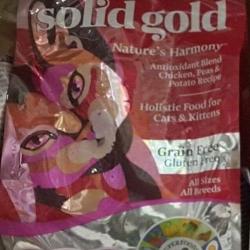 solid gold เนเจอร์ ฮามอนี่ : ไก่,ไก่งวง grain free สำหรับแมวทุกวัย ช่วยลดการเกิดโรคนิ่ว 1.36 กก. 710รวมส่ง