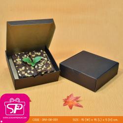 DN1-08-001 : กล่องขนมฝาในตัว ขนาด 15.0 x 15.0 x 5.0 ซม.