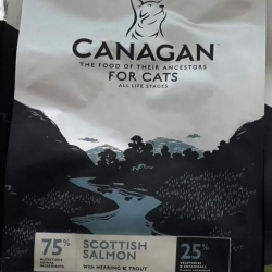Canagan อาหารแมวปลอดธัญพืช scottish salmon 375g. 300 รวมส่ง