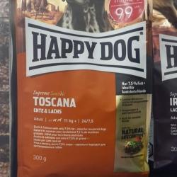 happy dog toscana เป็ดแซลมอน สุนัขโตทำหมันแล้ว 300g. 149รวมส่ง