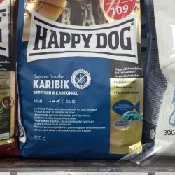 happy dog karibik ปลาทะเลมันฝรั่ง ปลอดธัญพืช สุนัขโตแพ้ง่าย 300g. 149รวมส่ง